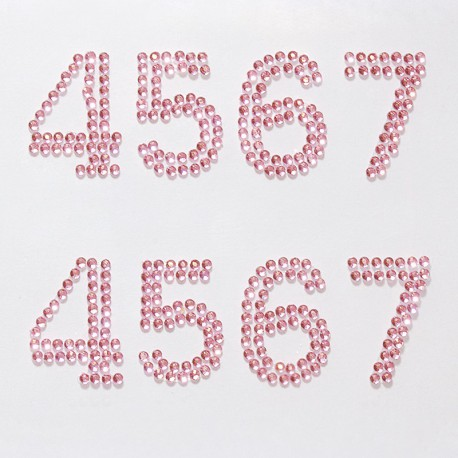 4567 розовые Набор самоклеющихся страз Glorex