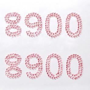 8900 розовые цифры Набор самоклеющихся страз Glorex