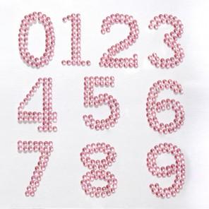 123456789 розовые Набор самоклеющихся страз Glorex