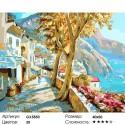 Прогулка вдоль набережной Раскраска картина по номерам на холсте