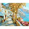 Прогулка вдоль набережной Раскраска картина по номерам акриловыми красками на холсте