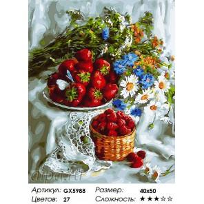Количество цветов и сложность Щедрость природы Раскраска картина по номерам акриловыми красками на холсте