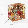 Размеры Книжный магазинчик Набор для создания миниатюры румбокс