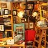 Светящаяся люстра Книжный магазинчик Набор для создания миниатюры румбокс
