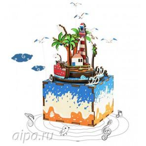 Остров мечты с музыкальными эффектами 3D Пазлы Деревянные