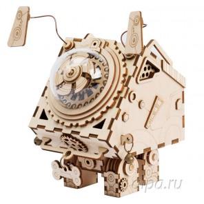 Сеймур Стимпанк с муыкальными и световыми эффектами 3D Пазлы Деревянные