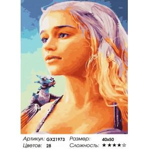 Молодой дракон Раскраска картина по номерам акриловыми красками на холсте