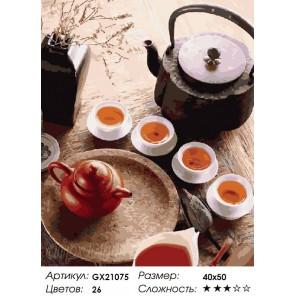 Чайная церемония Раскраска картина по номерам акриловыми красками на холсте