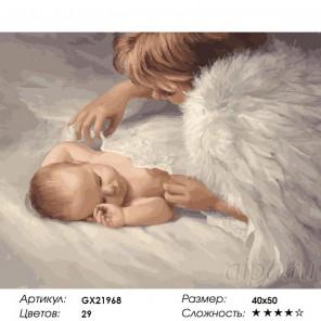 Под защитой Ангела Раскраска картина по номерам на холсте