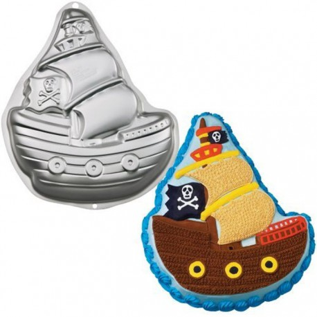 Пиратский корабль Форма для выпечки металлическая Wilton ( Вилтон )
