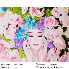 Фея цветов Раскраска картина по номерам акриловыми красками на холсте