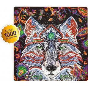 Ночной волк Алмазная вышивка мозаика на картоне