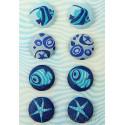 Морские глубины Набор декоративных брадсов Арт Узор