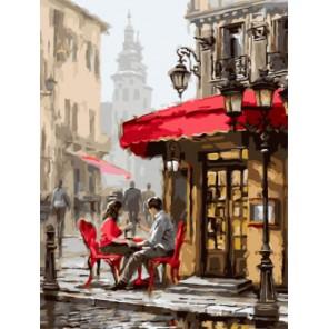 Влюбленные в кафе Раскраска картина по номерам акриловыми красками на холсте