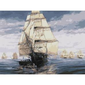 Флотилия Раскраска картина по номерам акриловыми красками на холсте