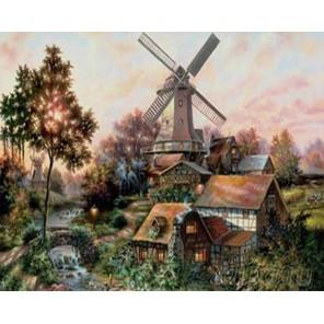 Огни родного дома (художник Клаус Штрубель) Раскраска картина по номерам Plaid
