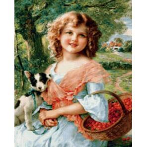 Очаровательная девочка Алмазная мозаика вышивка на подрамнике Painting Diamond