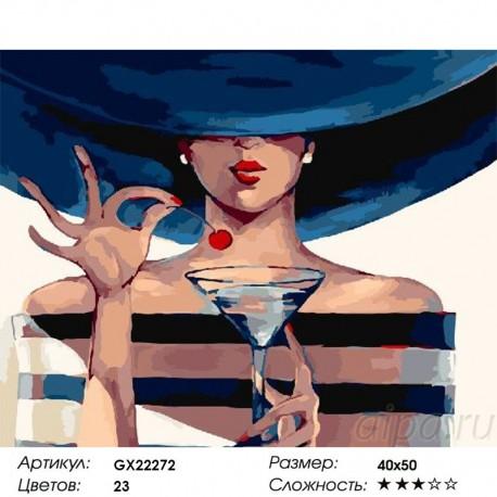 Количество цветов и сложность Коктейльная вишня Раскраска картина по номерам акриловыми красками на холсте