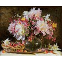 Букет цветов с вишней Раскраска картина по номерам Schipper (Германия)