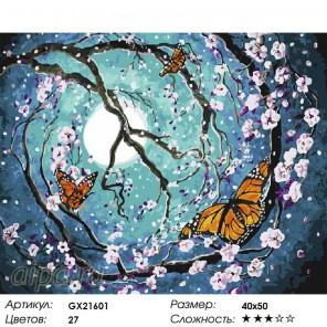Полет бабочек Раскраска картина по номерам на холсте