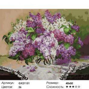 Сиреневое наслаждение Раскраска картина по номерам на холсте