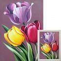Аромат тюльпанов Алмазная вышивка мозаика Гранни