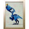 Готовая картина Любопытный Дино Алмазная вышивка мозаика Гранни