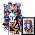 Магический тигр Алмазная вышивка мозаика Гранни