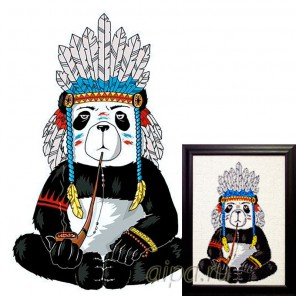 Хиппи панда Алмазная вышивка мозаика Гранни