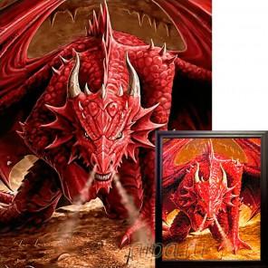 Ярость дракона Алмазная вышивка мозаика Гранни