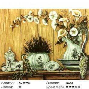 Количество цветов и сложность Натюрморт прованс Раскраска картина по номерам акриловыми красками на холсте