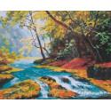 Прозрачный поток Раскраска картина по номерам на холсте