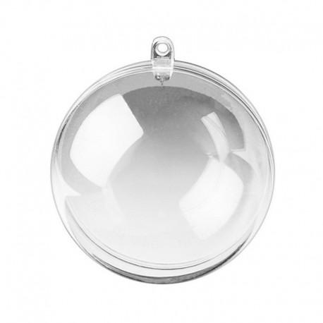 Шар 8см Фигурка разъемная из прозрачного пластика для декорирования