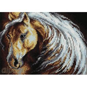 Дикая лошадка Алмазная мозаика на магнитной основе