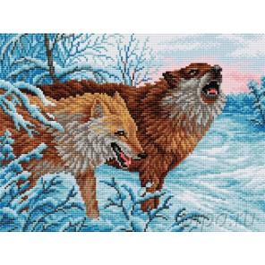 Волки Алмазная вышивка мозаика