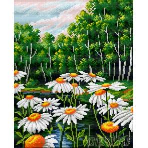 Ромашки в лесу Алмазная вышивка мозаика