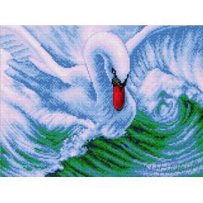 Лебедь Алмазная вышивка мозаика