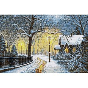 Зимний вечер Алмазная вышивка мозаика