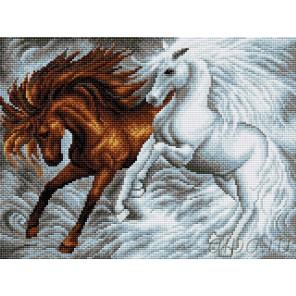 Лошади Алмазная вышивка мозаика