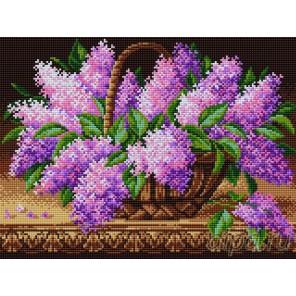 Сирень в корзине Алмазная вышивка мозаика