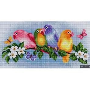 Попугаи Алмазная вышивка мозаика