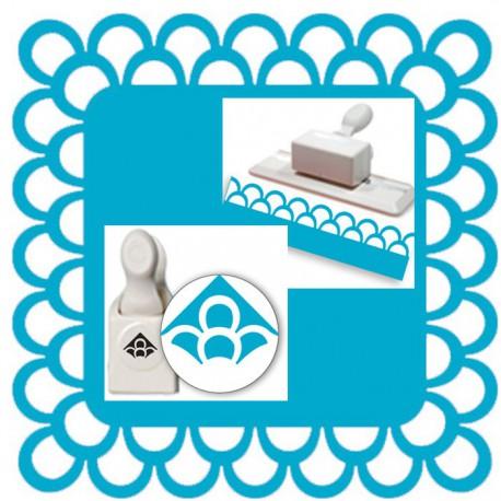 Бордюр и Угол Двойная петля Фигурные дыроколы глубокие для скрапбукинга, кардмейкинга Martha Stewart Марта Стюарт