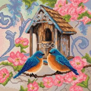 Семейное гнездышко Алмазная вышивка мозаика Iteso
