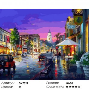 После ливня (художник Цао Йен ( Cao Yong) Раскраска картина по номерам акриловыми красками на холсте