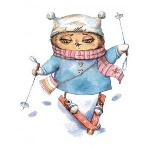 Лыжница Алмазная мозаика на подрамнике