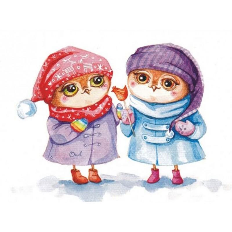 Мимимишные открытки на новый год