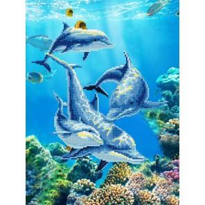 Дельфин Алмазная мозаика на подрамнике