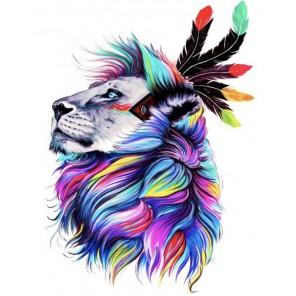 Тотем льва Алмазная мозаика на подрамнике