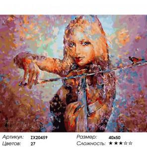 Количество цветов и сложность Чарующая музыка Раскраска картина по номерам акриловыми красками на холсте