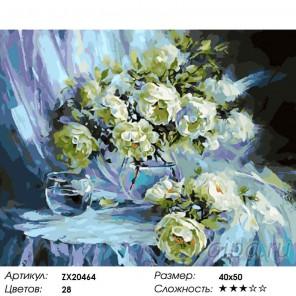 Белый шиповник Раскраска картина по номерам на холсте